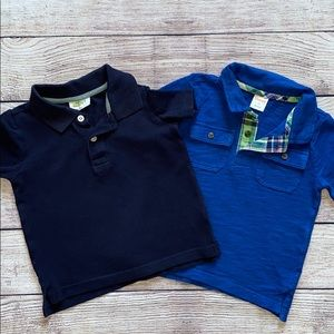 🟠 3/$20 Boys Blue Polo shirts Size 2T